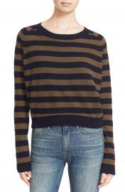 Vince Regiment Stripe Cashmere Sweater at Nordstrom