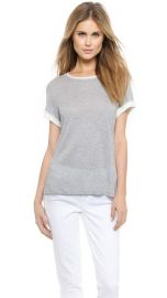 Vince Rolled Sleeve Colorblock Tee at Shopbop