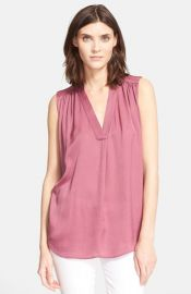 Vince Shirred Shoulder Top at Nordstrom