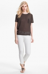 Vince Silk Pocket Tee in forge at Nordstrom