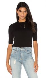 Vince Skinny Rib Sweater in Black at Revolve