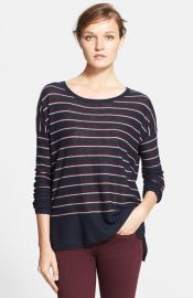 Vince Stripe Wool Blend Sweater at Nordstrom