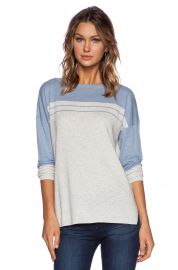 Vince Stripe Yoke Sweater at Revolve