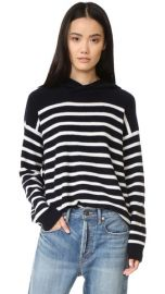 Vince Striped Cashmere Hoodie at Shopbop