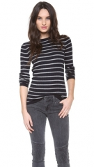 Vince Striped Crew Neck Sweater at Shopbop