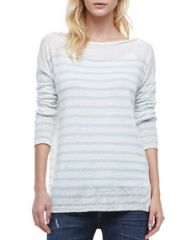 Vince Striped Lightweight Knit Sweater at Neiman Marcus