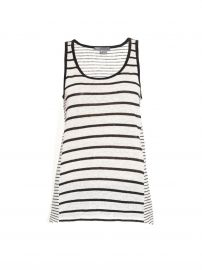 Vince Striped Linen Tank Top at Matches