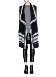 Vince Textured Stitch Drape Front Cardigan at Lane Crawford