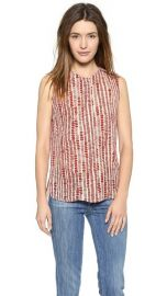 Vince Tribal Dot Silk Blouse at Shopbop