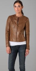 Vince Vintage Leather Jacket at Shopbop