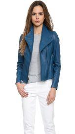 Vince Vintage Leather Scuba Jacket at Shopbop