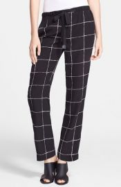 Vince Windowpane Pants at Nordstrom