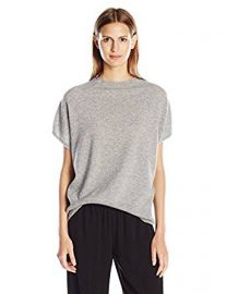 Vince Women s Cap Slv High Nk Pullover at Amazon