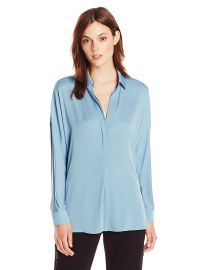 Vince Women s L s V-Neck Blouse at Amazon