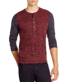 Vince Wool-Linen Jaspe Henley  at Bloomingdales