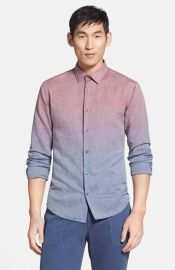 Vince and39Sunset Degradeand39 Trim Fit Sport Shirt at Nordstrom