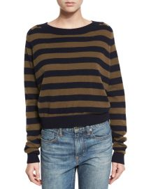 Vince stripe sweater at Neiman Marcus