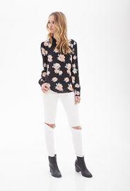 Vintage-Inspired Floral Blouse  Forever 21 - 2000060716 at Forever 21