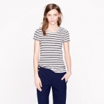 Vintage cotton tee in stripe at J. Crew