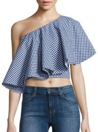Viva Aviva - Yakura Flouncy Gingham Top at Saks Fifth Avenue