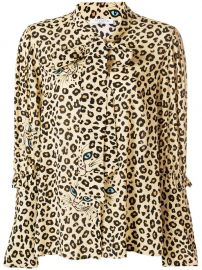 Vivetta Leopard Print Blouse at The Italist