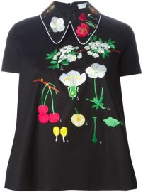Vivetta and39bossoand39 Flower Embroidered Top - at Farfetch