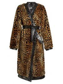 Vivian leopard-print faux-fur coat at Matches