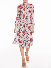 Vivid Rose Midi Shirt Dress at Veronika Maine
