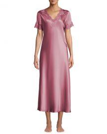 Vivis Krizia Lace-Trim Silk Nightgown at Neiman Marcus