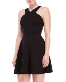 Vneck textured fit and flare dress at C21