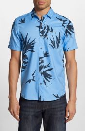 Volcom Pina Trim Fit Short Sleeve Print Woven Shirt at Nordstrom