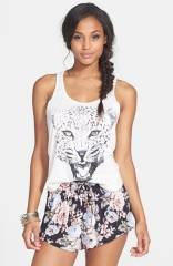 Volcom and39Surfariand39 Leopard Graphic Racerback Tank at Nordstrom