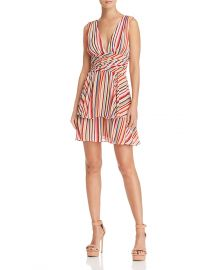 WAYF Costa Ruffled Cold-Shoulder Dress at Bloomingdales