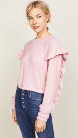 WAYF Darlene Ruffle Sweater at Shopbop