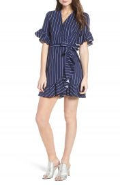 WAYF Ruffle Wrap Dress at Nordstrom