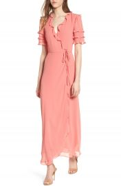 WAYF Ruffle Wrap Gown at Nordstrom