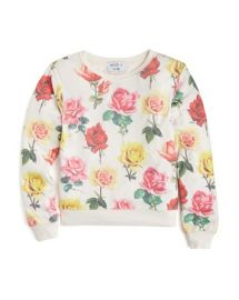 WILDFOX Girlsand039 Bright Roses Baggy Beach Jumper - Sizes S-XL at Bloomingdales