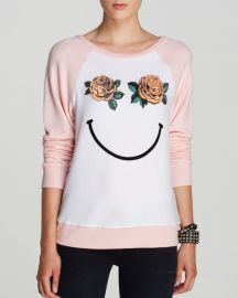 WILDFOX Pullover - Happy Roses at Bloomingdales