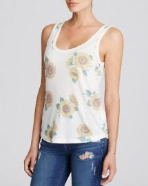 WILDFOX Sunflower Scoop Neck Tank at Bloomingdales