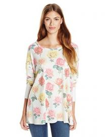 WILDFOX Womenand39s Effortless Bright Rose Long-Sleeve Tee at Amazon