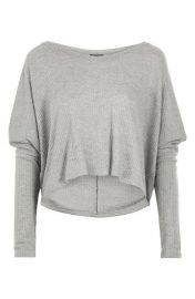 Waffle Sweat Top grey at Topshop