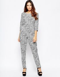 Wal G  Wal G Jumpsuit In Mono Print at Asos