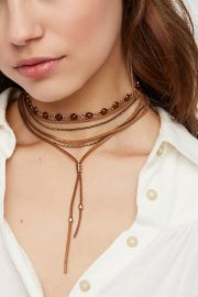 Wanted and Wild Leather Bolo at Free People