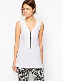 Warehouse  Warehouse Textured Zip Tunic at Asos