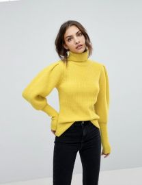 Warehouse Premium Balloon Sleeve Sweater at Asos