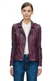 Washed Leather Jacket at Rebecca Taylor