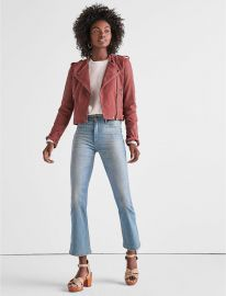 Washed Leather Moto Jacket  Lucky Brand at Lucky Brand