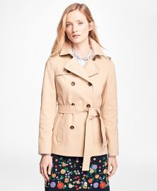Water-Repellent Cotton-Twill Trench Coat at Brooks Brothers