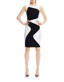 Wavy Sheath Dress by Theia at Lord & Taylor
