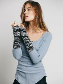We The Free   Alpine Cuff in blue at Free People